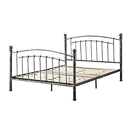 E-Rest Grant Metal Platform Bed Frame in Pewter