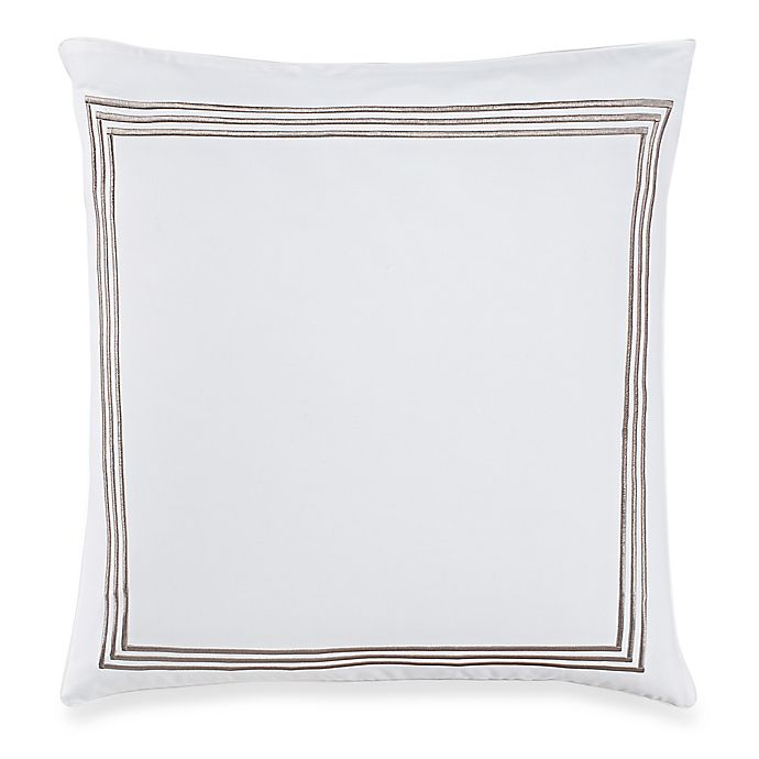 Alternate image 1 for Wamsutta® Hotel Triple Baratta Stitch European Pillow Sham