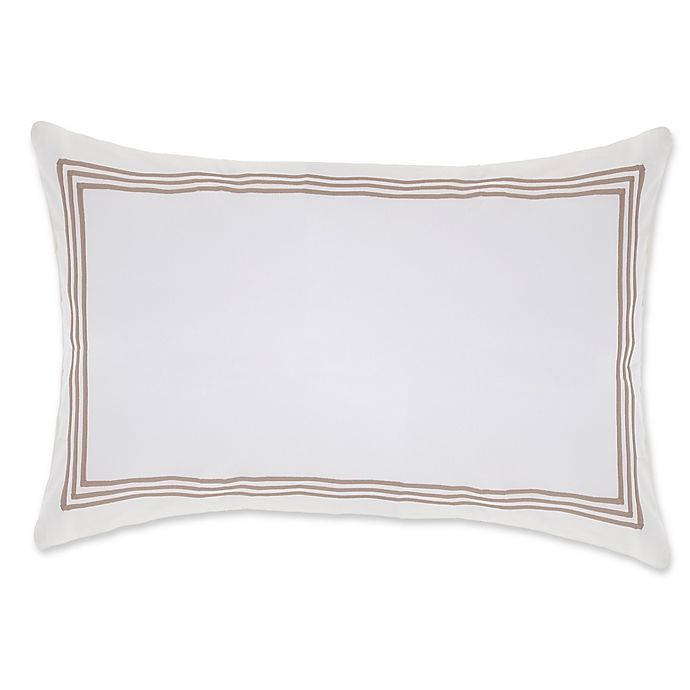 Alternate image 1 for Wamsutta® Hotel Triple Baratta Stitch Pillow Sham