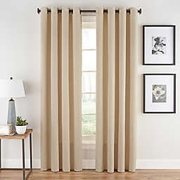 Honeycomb Matelassé 95-Inch Grommet Top Window Panel in Champagne