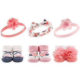 Hudson Baby® 6-Piece Headband and Sock Set in Pink