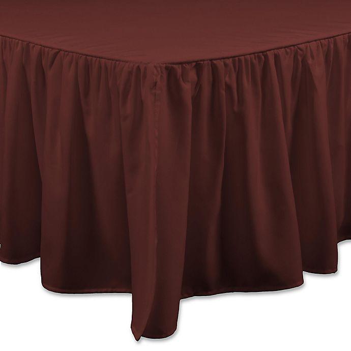 Alternate image 1 for Brielle Essential Full Bed Skirt in Dark Red