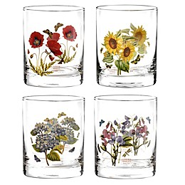 Portmeirion® Botanic Garden 12 oz. Double Old Fashioned Glasses (Set of 4)
