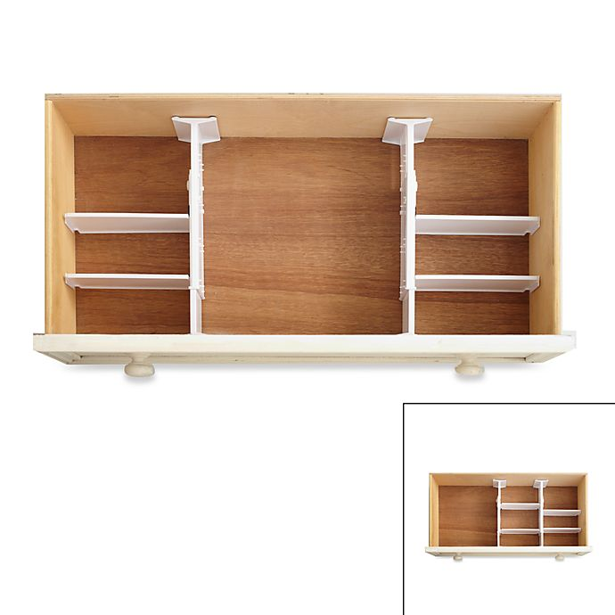 Alternate image 1 for 6-Piece Adjustable Drawer Organizer