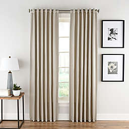 Honeycomb Matelassé 108-Inch Rod Pocket/Back Tab Window Panel in Linen