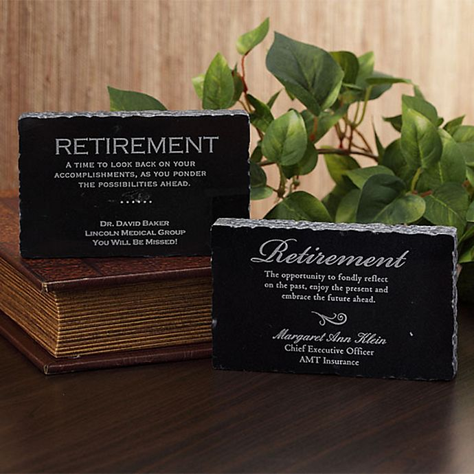 Alternate image 1 for Retirement Engraved Marble Keepsake