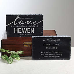 Heaven In Our Home Memorial Marble Keepsake