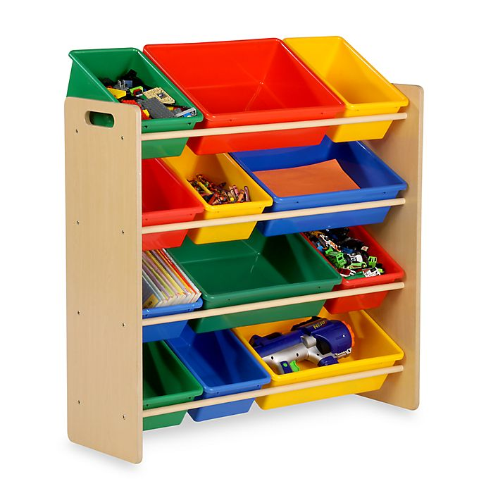 Alternate image 1 for Honey-Can-Do® Kids Toy Organizer and Storage Bins in Natural