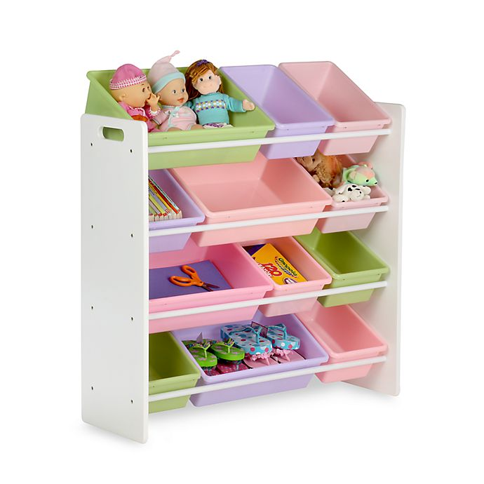 Alternate image 1 for Honey-Can-Do® Kids Toy Organizer and Storage Bins in Pastel