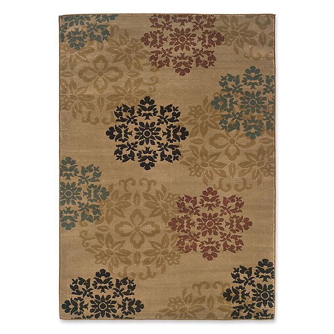 Alternate image 1 for Amaya Rugs Chapman Floral Rug in Gold