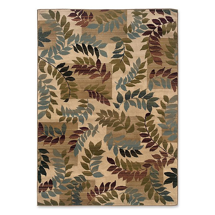 Alternate image 1 for Amaya Rugs Chapman Palm Rug in Beige