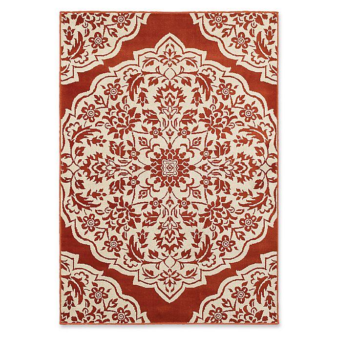 Alternate image 1 for Oriental Weavers Jayden Damask 7'10 x 10'10 Area Rug in Rust