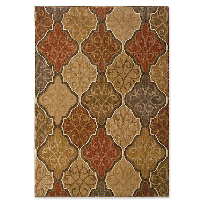 Alternate image 1 for Oriental Weavers Kasbah 9'10 x 12'10 Area Rug in Orange