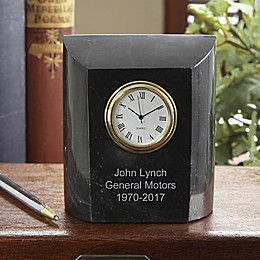 Company Time Marble Desk Clock