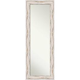 Amanti Art Alexandria 19-Inch x 53-Inch Framed On the Door Mirror in White