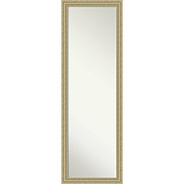 Amanti Art On-The-Door/Wall 17-Inch x 51-Inch Teardrop Mirror in Champagne