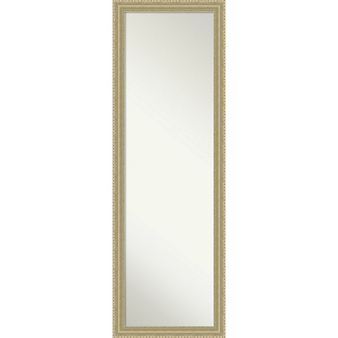Alternate image 1 for Amanti Art On-The-Door/Wall 17-Inch x 51-Inch Teardrop Mirror in Champagne