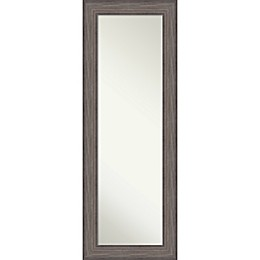 Amanti Art Country 19-Inch x 53-Inch Framed On the Door Mirror in Grey