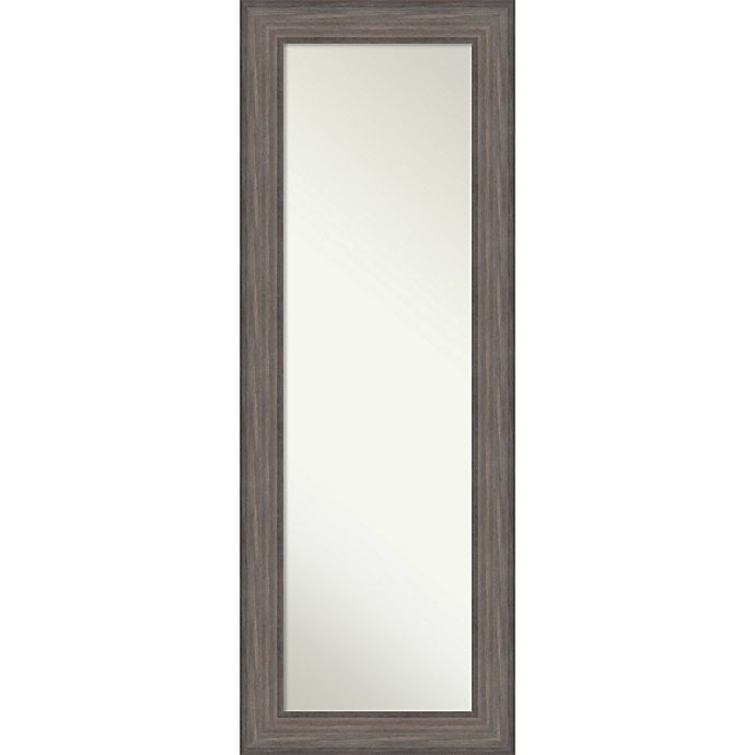 Alternate image 1 for Amanti Country Barnwood On-The-Door/Wall 19.5-Inch x 53.5-Inch Mirror in Weathered Blue/Grey