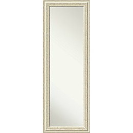 Amanti Art Country 18-Inch x 52-Inch Framed On the Door Mirror in Beige