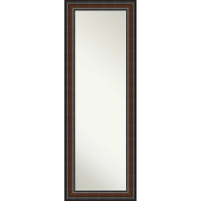 Alternate image 1 for Amanti Art Cyprus 19-Inch x 53-Inch Framed On the Door Mirror in Brown