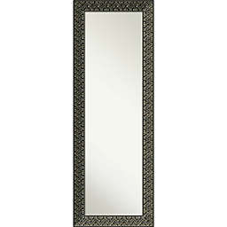 Amanti Art Intaglio Embossed 19-Inch x 53-Inch Framed On the Door Mirror in Black