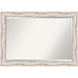 Amanti Alexandria Wall Mirror in White Wash
