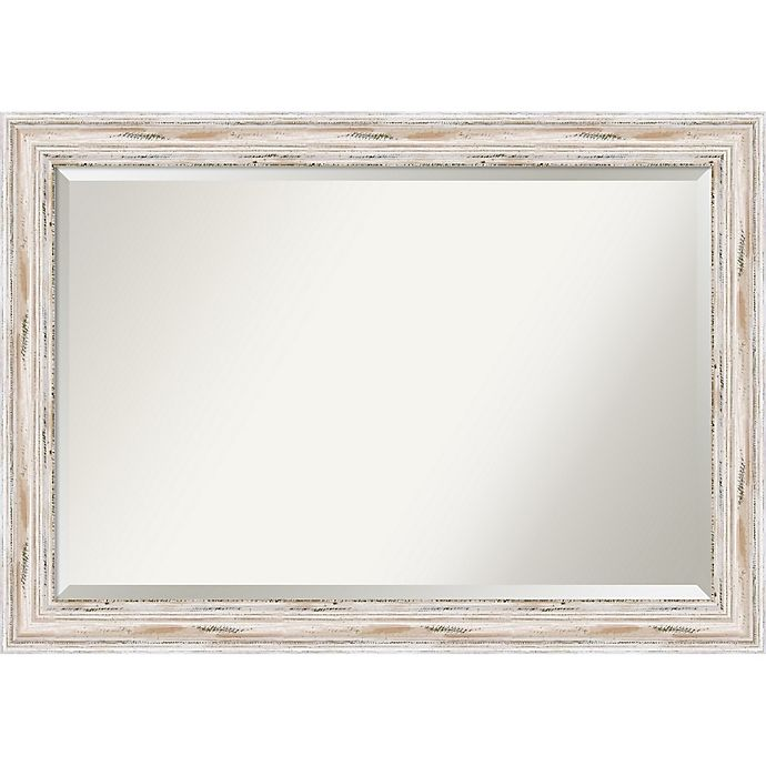 Alternate image 1 for Amanti Alexandria Wall Mirror in White Wash