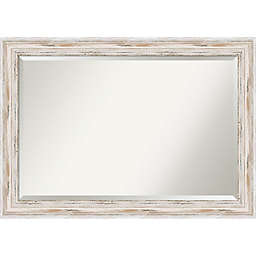 Amanti Alexandria Wall Mirror in White Wash