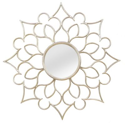 Stratton Home Decor 32 Inch Round Alexandra Wall Mirror In Gold Bed Bath Beyond