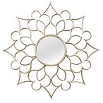 Stratton Home Décor 24-Inch Round Francesca Wall Mirror in Silver