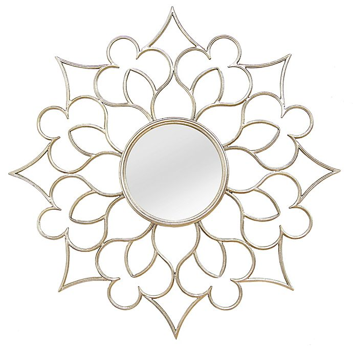 Stratton Home Decor 24 Inch Round Francesca Wall Mirror In Silver Bed Bath Beyond