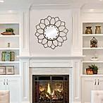 Stratton Home Décor 32-Inch Round Alexandra Wall Mirror in Gold