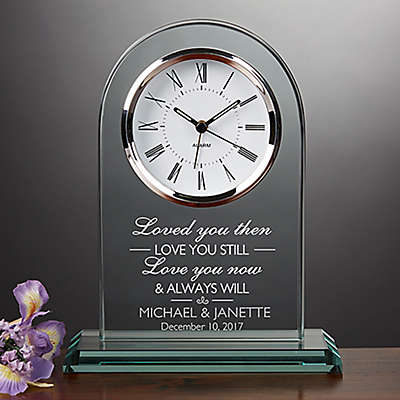 I Love You Wedding and Anniversary Table Clock