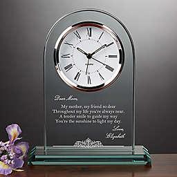 Dearest Mother Poem Table Clock