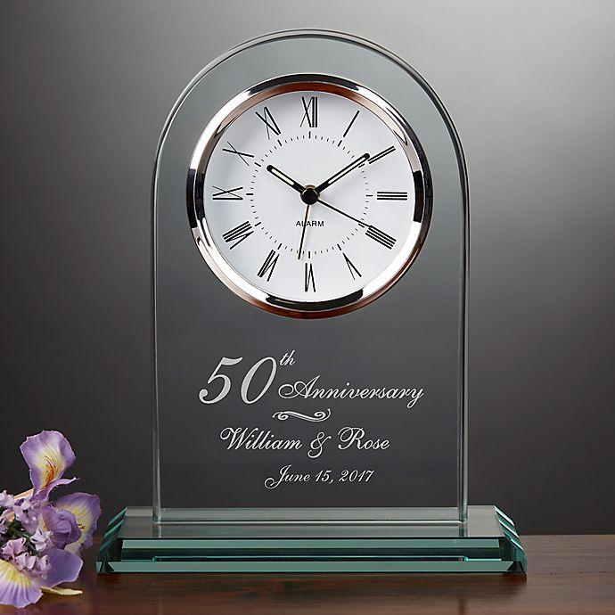 Alternate image 1 for Everlasting Love Anniversary Table Clock