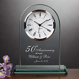 Everlasting Love Anniversary Table Clock