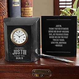 Great Groomsmen Marble Table Clock
