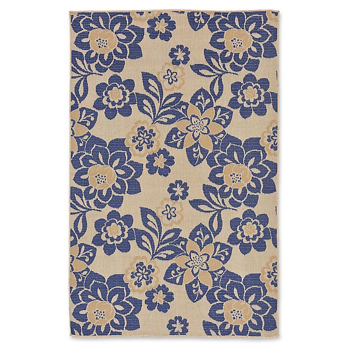 Alternate image 1 for Liora Manne Garden Topaz 4'10 x 7'6 Indoor/Outdoor Area Rug in Blue