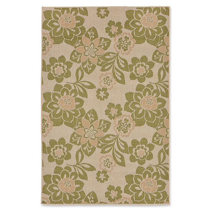 Alternate image 1 for Liora Manne Garden Topaz 4'10 x 7'6 Indoor/Outdoor Area Rug in Meadow Green