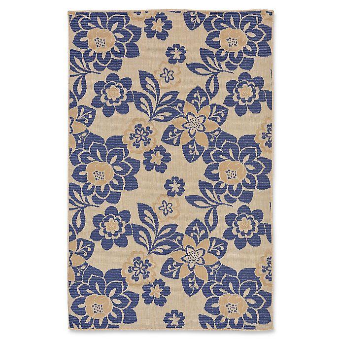 Alternate image 1 for Liora Manne Garden Topaz 7'10 Round Indoor/Outdoor Area Rug in Blue