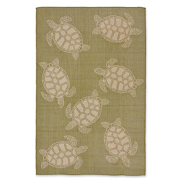 Liora Manne Sea Turtle Indoor/Outdoor Rug In Green