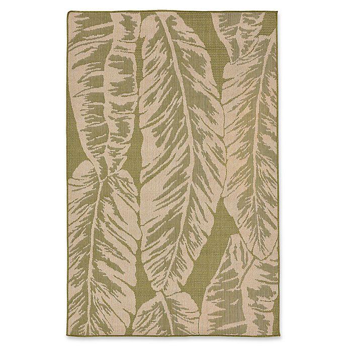 Alternate image 1 for Liora Manne Banana Leaf 7'10 Aquare Indoor/Outdoor Area Rug in Green