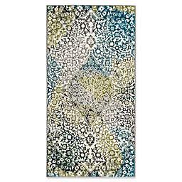 "Safavieh Watercolor 2'7"" x 5' Rene Rug in Peacock Blue"
