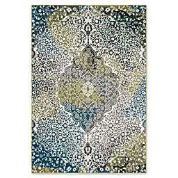 "Safavieh Watercolor 5'3"" x 7'6"" Rene Rug in Peacock Blue"