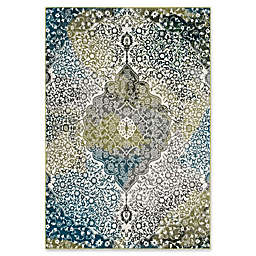"Safavieh Watercolor 6'7"" x 9' Rene Rug in Peacock Blue"