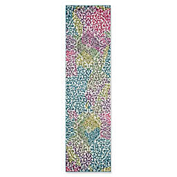 "Safavieh Watercolor 2'2"" x 8' Rene Rug in Fuchsia"