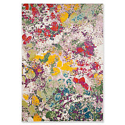 "Safavieh Watercolor 6'7"" x 9' Alexa Rug in Light Green"