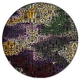 "Safavieh Watercolor 6'7"" x 6'7"" Jude Rug in Light Yellow"