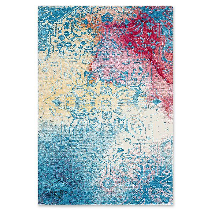 Alternate image 1 for Safavieh Watercolor 8' x 10' Nancy Rug in Light Blue